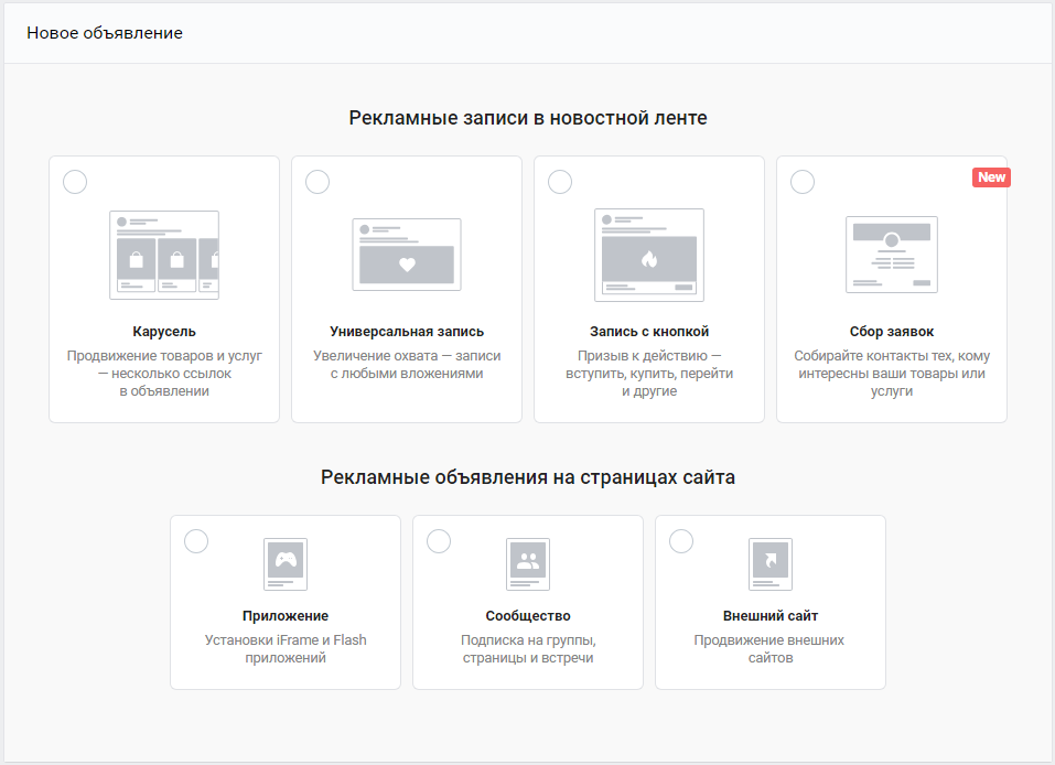 Как настроить рекламу ВКонтакте — форматы объявлений