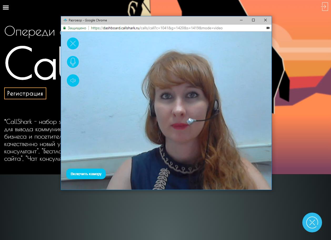 Видеоконсультант на сайте — окно взаимодействия с оператором в анонимном режиме