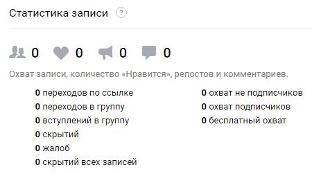 Аналитика рекламных кампаний ВКонтакте — статистика записи