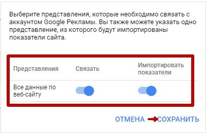 Как связать Google Analytics и Google Ads – импорт показателей сайта