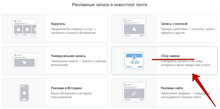 Сбор заявок ВКонтакте – выбор формата для сбора заявок