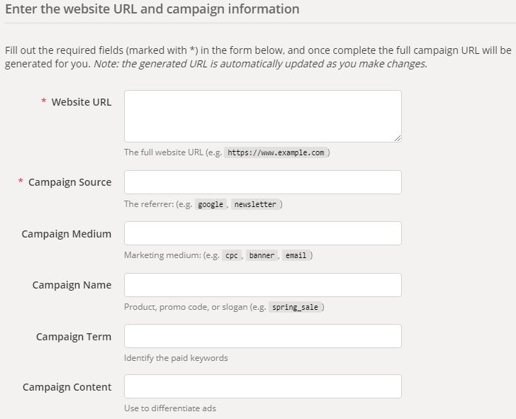 Инструменты контекстной рекламы – компоновщик URL Google Analytics