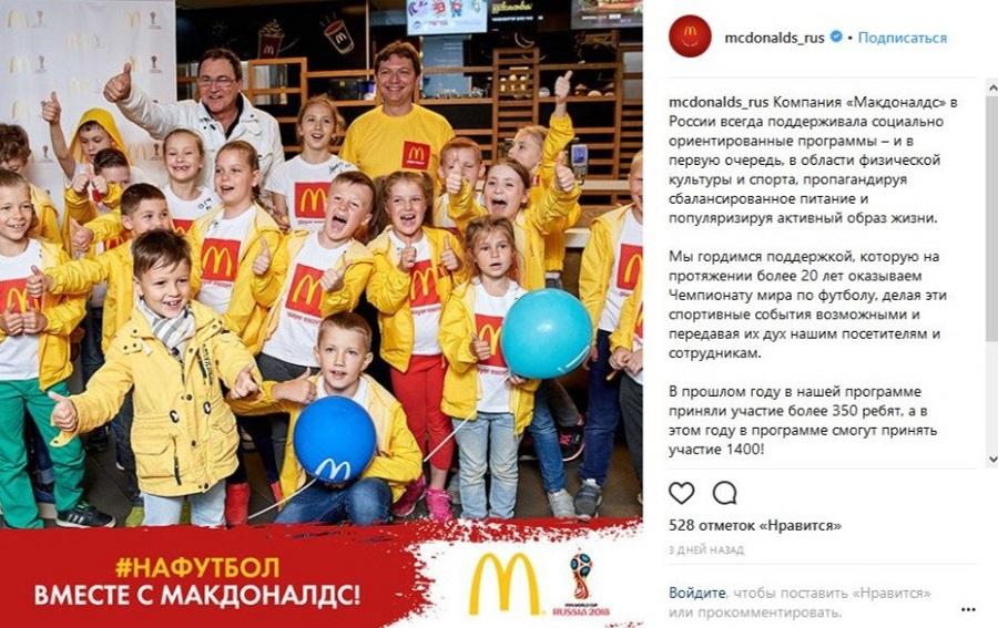 Ситуативный маркетинг – кейс Mc Donald's и Чемпионат мира по футболу
