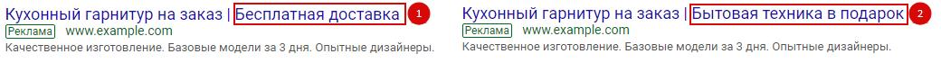 AB тесты в Яндекс.Директ и Google Ads – тест Заголовка 2 в Google Ads