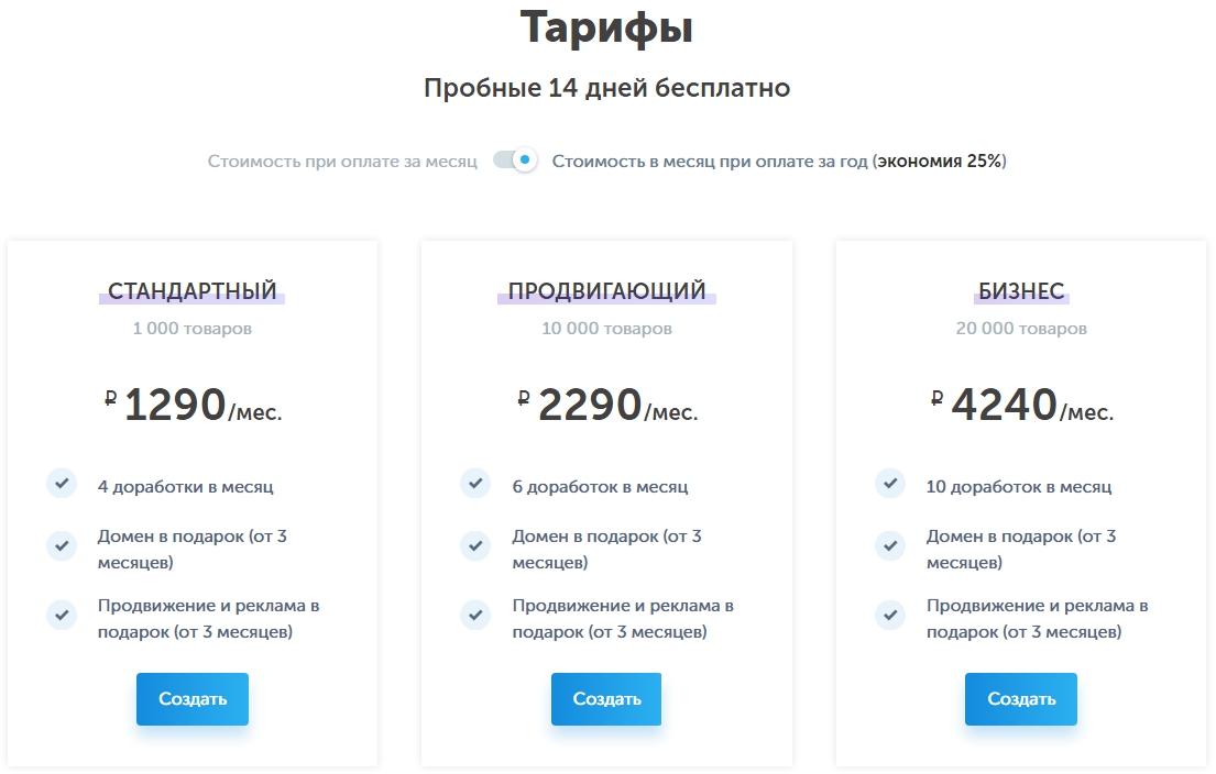 Конструкторы сайтов обзор – тарифы InSales
