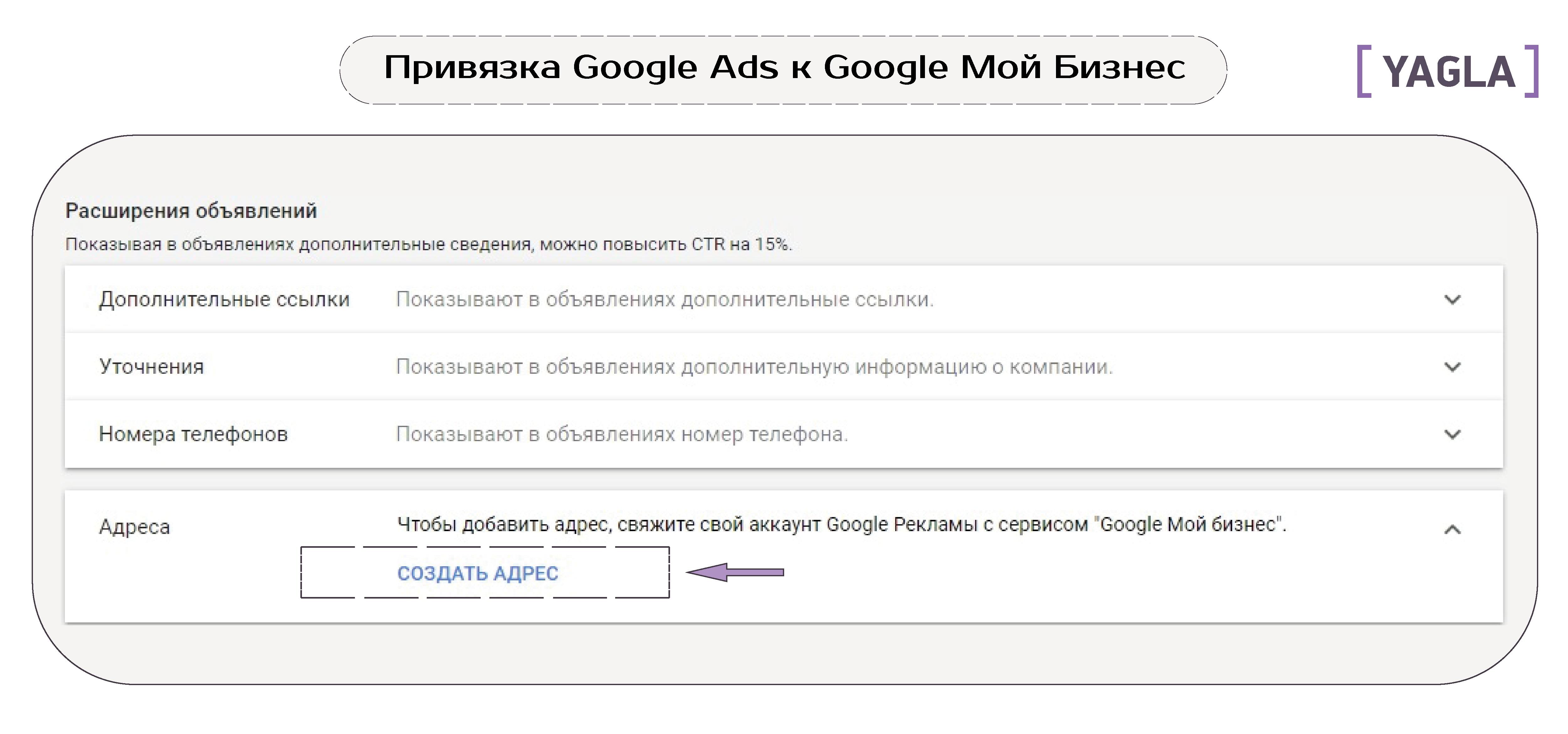 Привязка Google Ads к Google Мой Бизнес