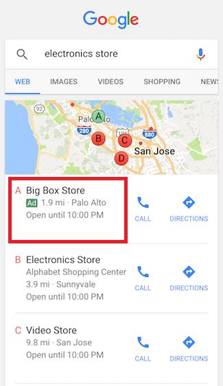 Реклама в Google Картах – местная реклама в мобильном поиске