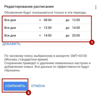 Оптимизация контекстной рекламы – выделение сегментов по времени в Google Ads