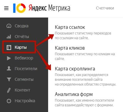 Основы веб-аналитики – карты Яндекс.Метрики