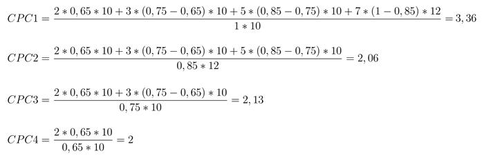 Аукционы рекламных систем – пример расчета по формулам VCG-аукциона