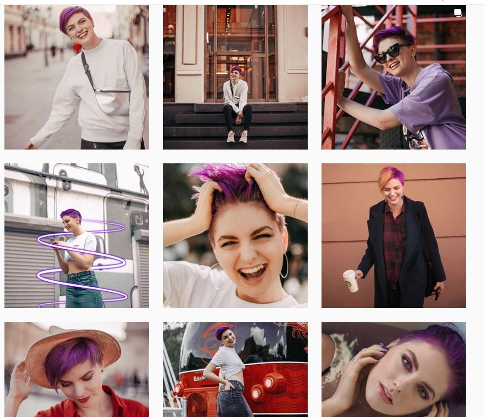 Как продавать в Instagram – дизайнерский шаблон профиля, пример 2