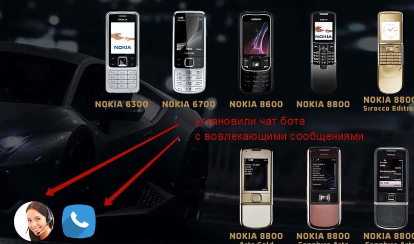 Кейс по продаже ретро-моделей Nokia – чат-бот на сайте
