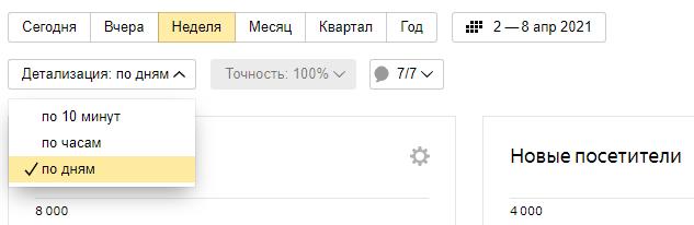 Как подключить Яндекс Метрику – временной период и детализация данных