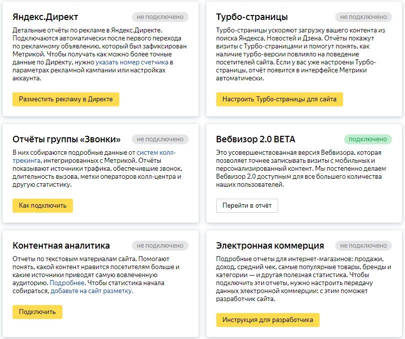 Как подключить Яндекс Метрику – подключение отчетов
