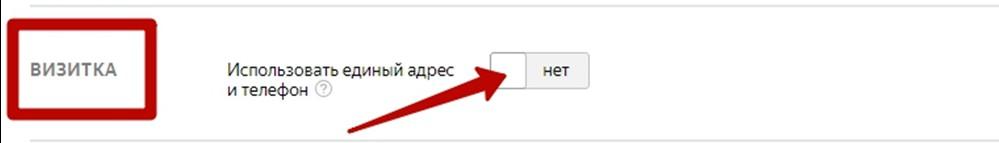 Как настроить рекламу в РСЯ – включение опции Яндекс Визитки