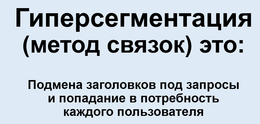 Реклама на поиске Яндекса – определение гиперсегментации