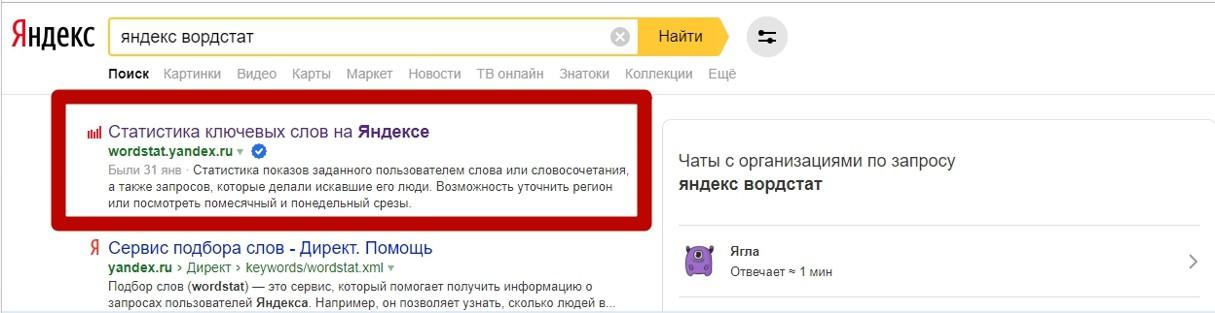 Реклама на поиске Яндекса – поиск Яндекс Вордстат