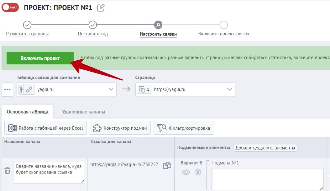 Настройка и оптимизация ретаргетинга в Яндекс.Директ – включение проекта